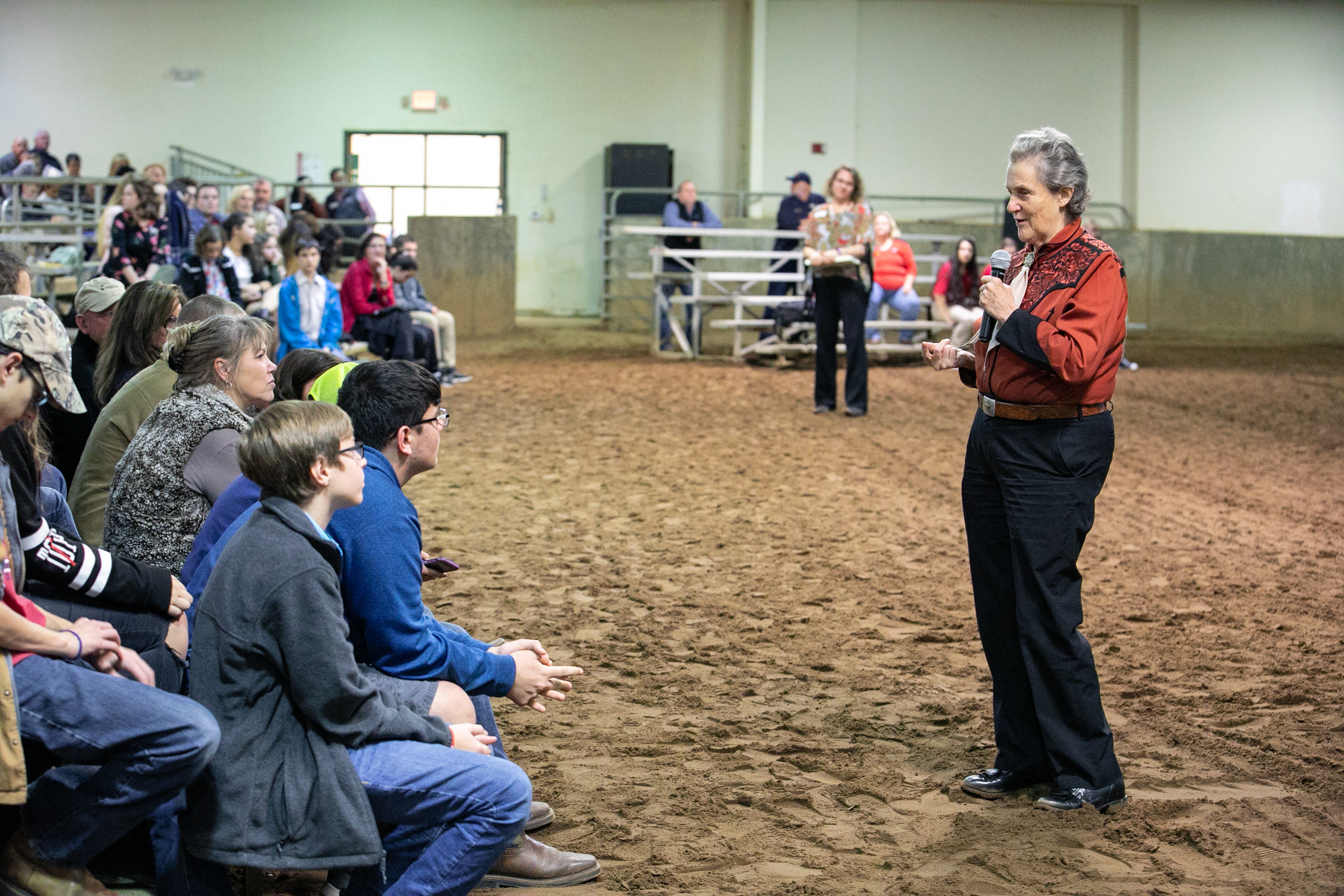 Temple Grandin, world-renowned animal agriculture consultant and advocate for the autism community, spoke to a crowd of about 400 Georgia 4-H club members and supporters on Dec. 4, 2018, at the UGA Livestock Arena. The event was hosted by Jackson County 4-H.