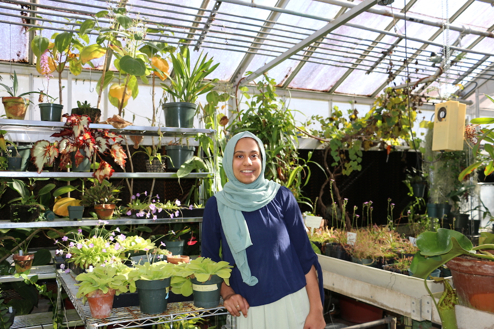 Ruqayah Bhuiyan, a junior studying horticulture at the UGA College of Agricultural and Environmental Sciences, spent spring 2018 interning at NASA, where she worked on methods to produce fresh produce for astronauts.