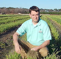 Chris Tyson is the new area onion agent at the Vidalia Onion and Vegetable Research Center in southeast Georgia. Tyson previously worked as a UGA Extension Agriculture and Natural Resources agent in Tattnall County.
