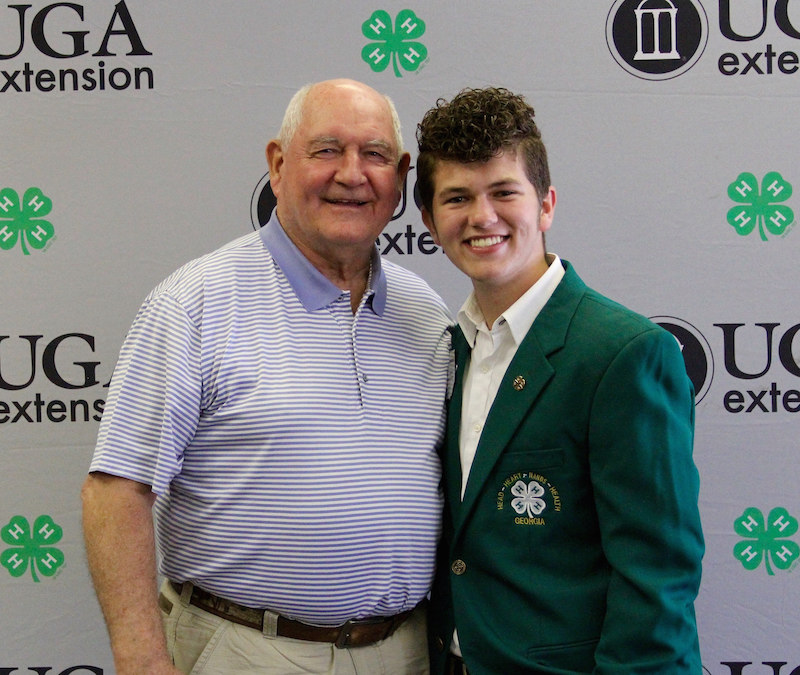 From his retro sense of style to his effervescent personality, Mason McClintock always felt different from others his age. When Georgia 4-H came into his life, he found a place of belonging, somewhere he could be himself and feel encouraged by adults and his peers. McClintock is shown with U.S. Secretary of Agriculture Sonny Perdue during his visit with Georgia 4-H'ers in recognition of National 4-H Week in 2017.