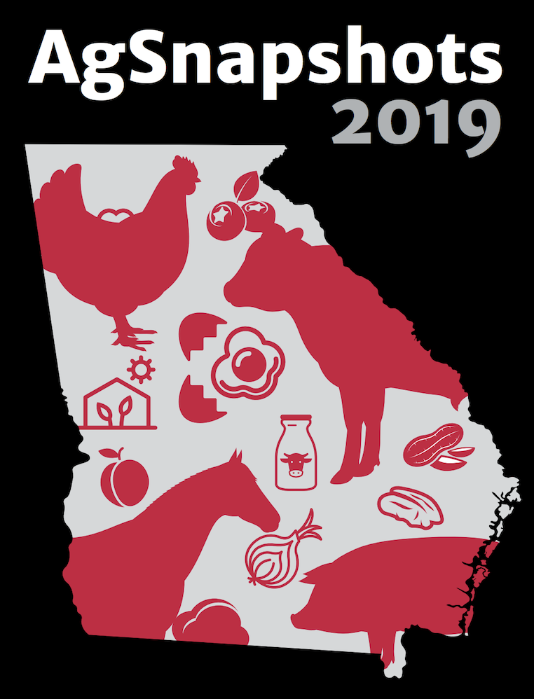 """""""Ag Snapshots,"""" a pocket-sized book created by the University of Georgia Center for Agribusiness and Economic Development, summarizes Georgia's farm gate values in an easy-to-read format."""