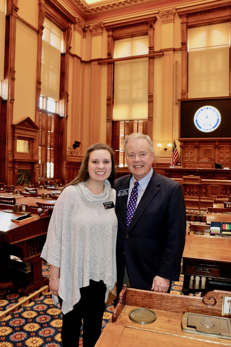 UGA College of Agricultural and Environmental Sciences student Reaganne Coile has spent the 2019 session of the Georgia General Assembly working with the office of Sen. John Wilkinson and the Senate Committee on Agriculture and Consumer Affairs.