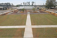 The Centennial Garden is currently under construction and is located behind the Tift Building in the middle of the UGA Tifton campus.