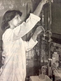 Sue Ellen McCullough is shown working in a lab in the University of Georgia Department of Food Science and Technology on the Griffin Campus circa late 1970s. McCullough recently retired with close to 40 years of service.