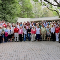 UGA Extension Master Gardeners gather at their annual conference in April at UGA's State Botanical Garden of Georgia in Athens. To celebrate 40 years of service, they hosted David Gibby, far right, who founded the nation's first Master Gardener program in 1972.