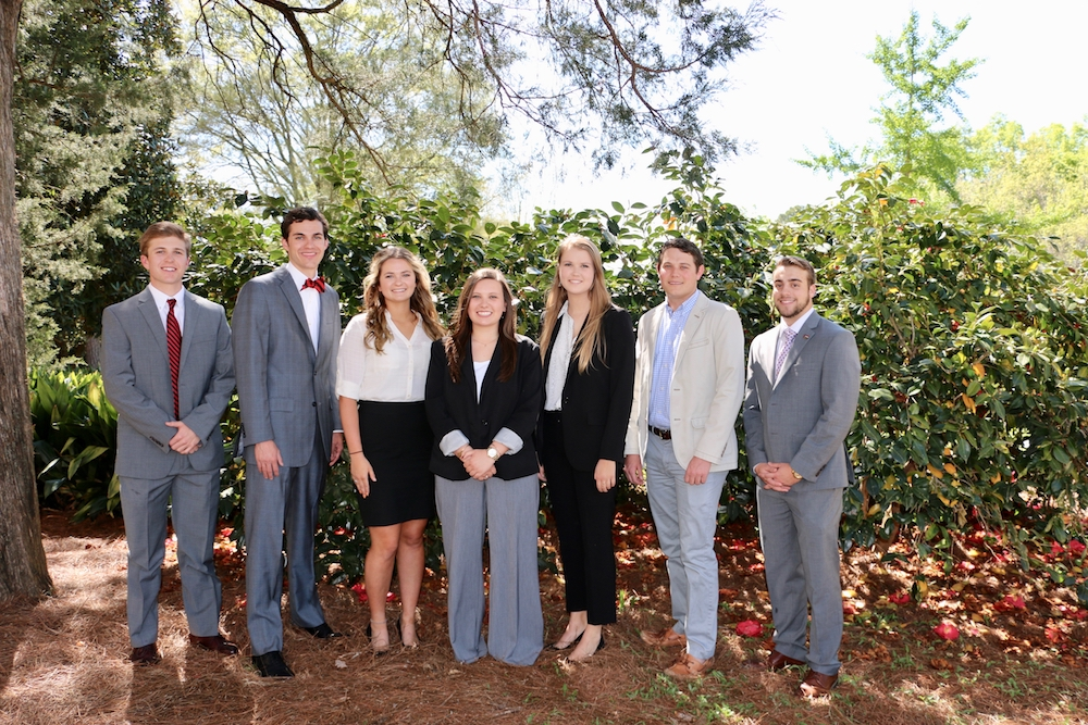 University of Georgia students Jake Matthews, Morgan Hart, Katelyn Bickett, Reaganne Coile, Alyson Dallas, Cam Shepherd and Ben Parker will spend their summer in Washington D.C. as part of the UGA College of Agricultural and Environmental Sciences Congressional Agricultural Fellows Program.