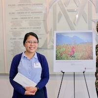 "Dung Tran, a doctoral student in the CAES Institute of Plant Breeding, Genetics and Genomics won first place in the CAES Agricultural Abroad Photo Contest with her photo, ""Happy H'Mong Farmer in the Corn Field."" Tran, who worked in plant conservation in Vietnam, took the photo on a seed collecting trip."