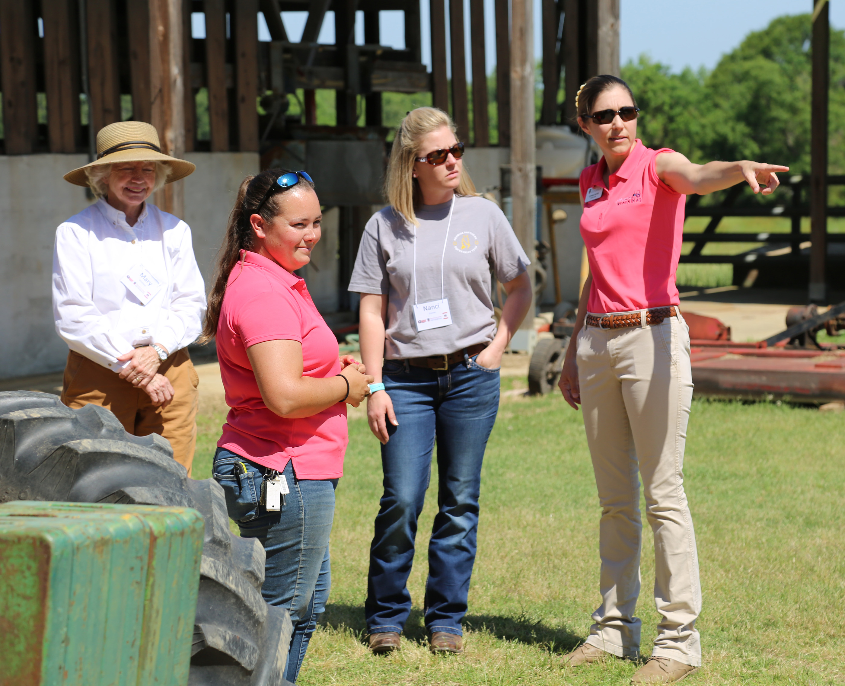 UGA Coweta County Extension Coordinator Stephanie Butcher (right) teaches during the Southern Women in Agriculture Cattle Workshop held on the UGA Tifton Campus, April 29-30.