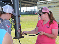 UGA Morgan County Extension Coordinator Lucy Ray teaches during the Southern Women in Ag Cattle Workshop held on the UGA Tifton Campus, April 29-30.