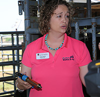 UGA Bulloch County Extension ANR agent Carole Knight teaches during the Southern Women in Ag Cattle Workshop held on the UGA Tifton Campus, April 29-30.