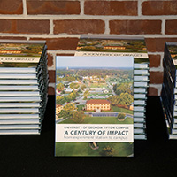 Copies of the centennial book, published by UGA-Tifton, are on sale for $33 each. This price covers the cost of the book, along with taxes and shipping.