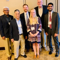 UGA attendees at AIARD meeting: (L-R) K.C. Das, professor of engineering; Amrit Bart, director of the UGA College of Agricultural and Environmental Sciences Office of Global Programs; Chandler Murray, master's student in agricultural and environmental education; Chandler Levinson, doctoral candidate in plant breeding, genetics and genomics; Hiram Larew, UGA alumnus; and Fawad Khan, doctoral candidate in entomology.