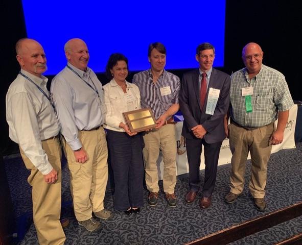 UGA peanut researchers Soraya and David Bertioli were honored at the meeting of the American Peanut Research and Education Society with the American Peanut Council Peanut Research and Education Award.