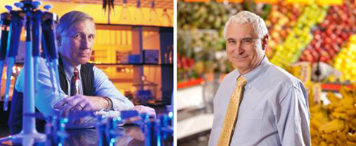 Two University of Georgia College of Agricultural and Environmental Sciences scientists have received the American Association for the Advancement of Science's highest honor. Dr. Clifton Baile (left) and Dr. Michael Doyle (right) have been named AAAS Fellows.