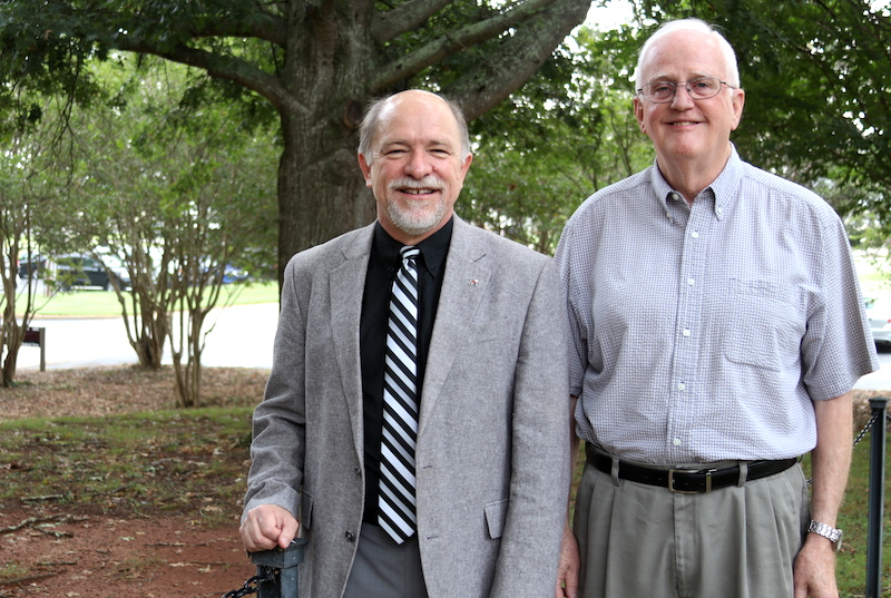University of Georgia Distinguished Research Professor Emeritus Larry Beuchat (right) and UGA Professor Francisco Diez were recognized by the International Association for Food Protection at the association's annual meeting held July 21–24, 2019, in Louisville, Kentucky.