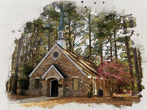 Rock Eagle Chapel photo illustration