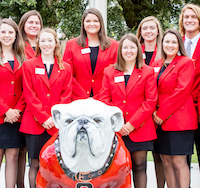 UGA-Tifton's CAES ambassadors are ready to represent the college at college fairs and alumni events.