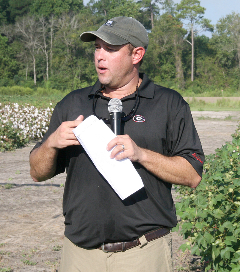 UGA Extension cotton agronomist Jared Whitaker is researching ways to spread risk with cotton harvests in response to natural disasters.