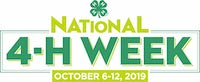 National 4-H Week has been set for Oct. 6-12. Georgia 4-H began in 1904 as a corn club for boys. Today, Georgia 4-H attracts students from all areas of interest, not just those interested in agriculture. The majority of participants currently come from small cities, towns and rural non-farms.