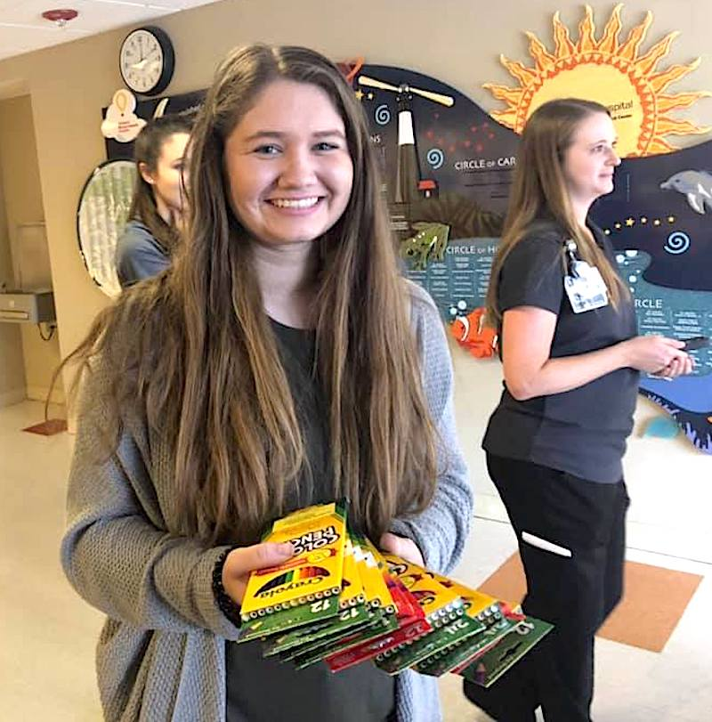 Through her Georgia 4-H Leadership in Action project, Gracie Grimes collected art supplies, created an original coloring book, and colored words of encouragement to donate to hospitals and other community organizations that serve youths and adults during hard times.