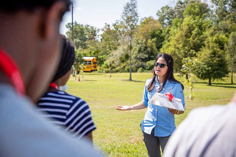 UGA Extension entomologist Angelita Acebes-Doria talks during the STEM in AGtion event on the UGA Tifton campus.
