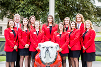 The 2019 UGA-Tifton student ambassadors pose for a picture in front of campus.