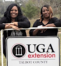 Two new staff members, both Talbot County natives, have joined the staff of the local UGA Extension office in Talbot County. Erica Chaney (left) is the EFNEP program assistant and Shamona Willis is the county Extension 4-H educator.