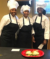 Dougherty County 4-H'ers Dianah Anderson, Tandria Burke and Christiana Smith won first place in the Georgia 4-H Food Challenge senior contest.