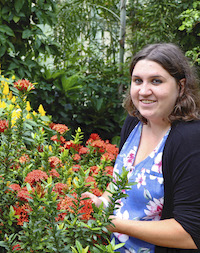"Bethany Harris' UGA degrees exposed her to working with pollinators and butterflies, so her job as assistant director of education at Callaway Gardens is a perfect fit. ""In addition to the butterfly center, we have an outdoor butterfly garden and my research at UGA centered around native pollinators and butterflies,"" she said."