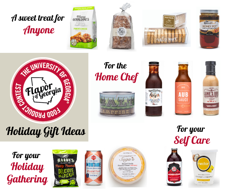 Whether you're looking for a host or hostess gift for something for you secret Santa, UGA's Flavor of Georgia Food Product Contest has some great recommendations. Visit flavorofgeorgia.caes.uga.edu for more information.