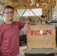 UGA poultry science student Vince Hix cares for about 1,000 birds at his home in northeast Georgia. Hix is respected by exotic bird breeders around the world.