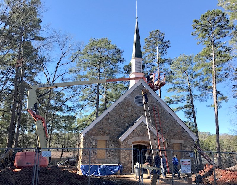 Georgia 4-H plans to officially dedicate the newly restored chapel at Rock Eagle 4-H Center during a ceremony set for June 28, during Georgia 4-H State Council. Just shy of a year after an electrical fire gutted the interior of the building, the restoration of the chapel is nearing completion.