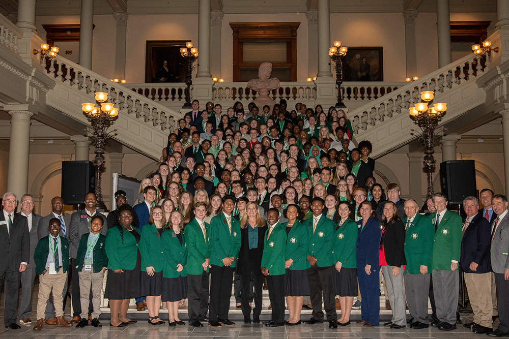 Picture of 4-H'ers at 2020 Capitol Day