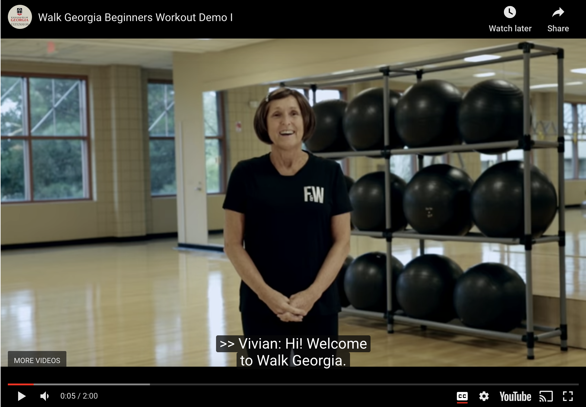 UGA Extension's Walk Georgia program offers free fitness videos from certified trainers for beginner, intermediate and advanced levels.