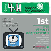 Some Georgia 4-H'ers will be able to participate in virtual project achievement area contests.