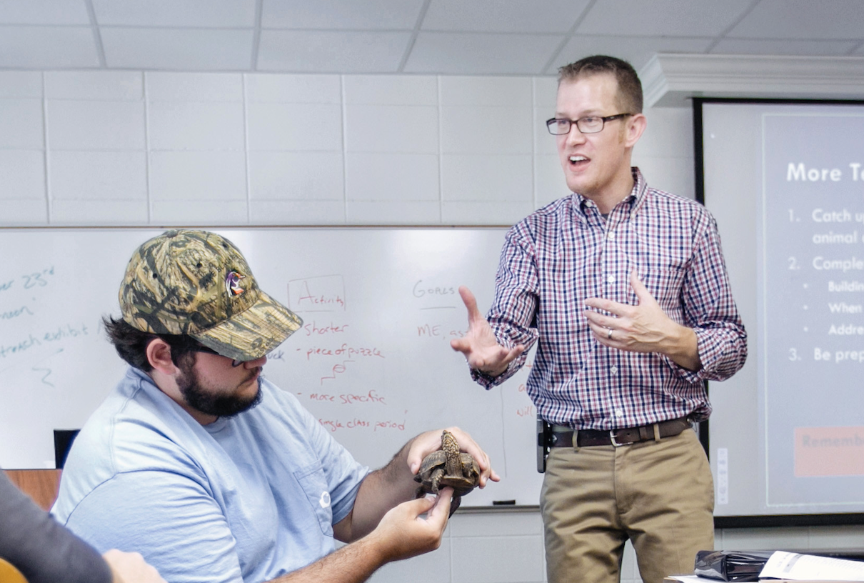 UGA Professor Nick Fuhrman's research interests are in non-formal teaching methods, program evaluation and the use of live animals as teaching tools for educators.
