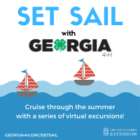 "Georgia 4-H has created a virtual summer series called ""Set Sail with Georgia 4-H"" to provide youth with entertaining and educational lessons and adventures."