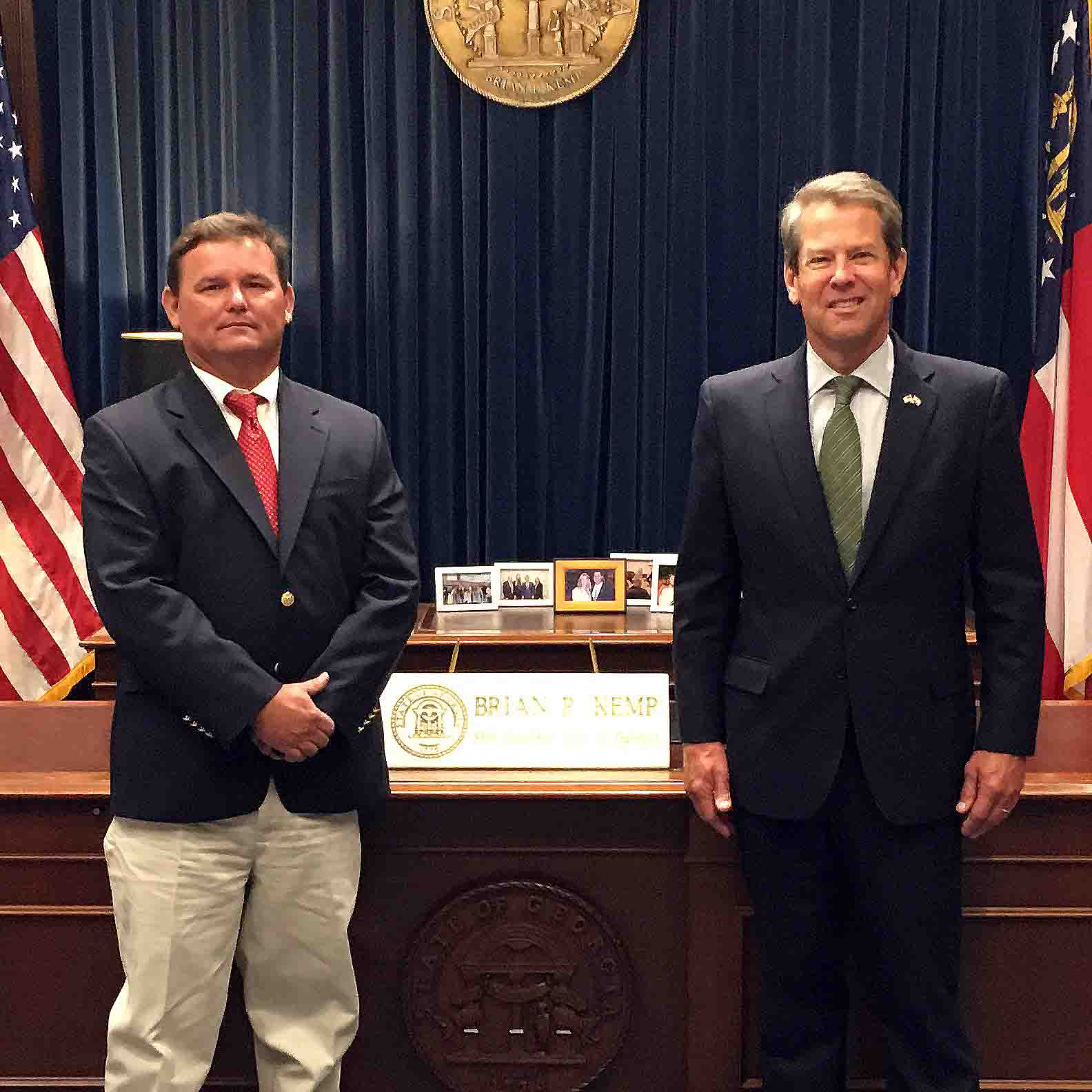 Governor Brian Kemp recognized Lee Nunn of Madison, Georgia, as the 2020 Farmer of the Year on July 8, 2020.