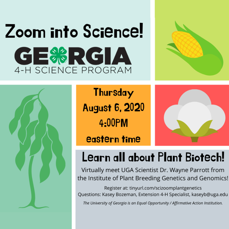 Georgia 4-H Zoom into Science August