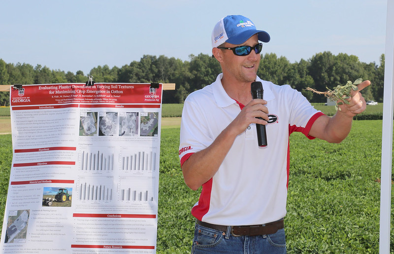 UGA Extension peanut entomologist Mark Abney speaks about peanuts during the Midville Field Day in 2019. Faculty will give presentations online for this year's field day.
