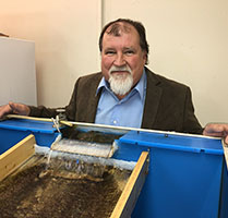 Elmer Gray (shown) will serve as assistant project director for the Black Fly Research and Resource Center. Gray helped establish UGA's Black Fly Rearing and Bioassay Laboratory in 1999 with Ray Noblet, former head of the entomology department, who will serve as scientific advisor to the project.