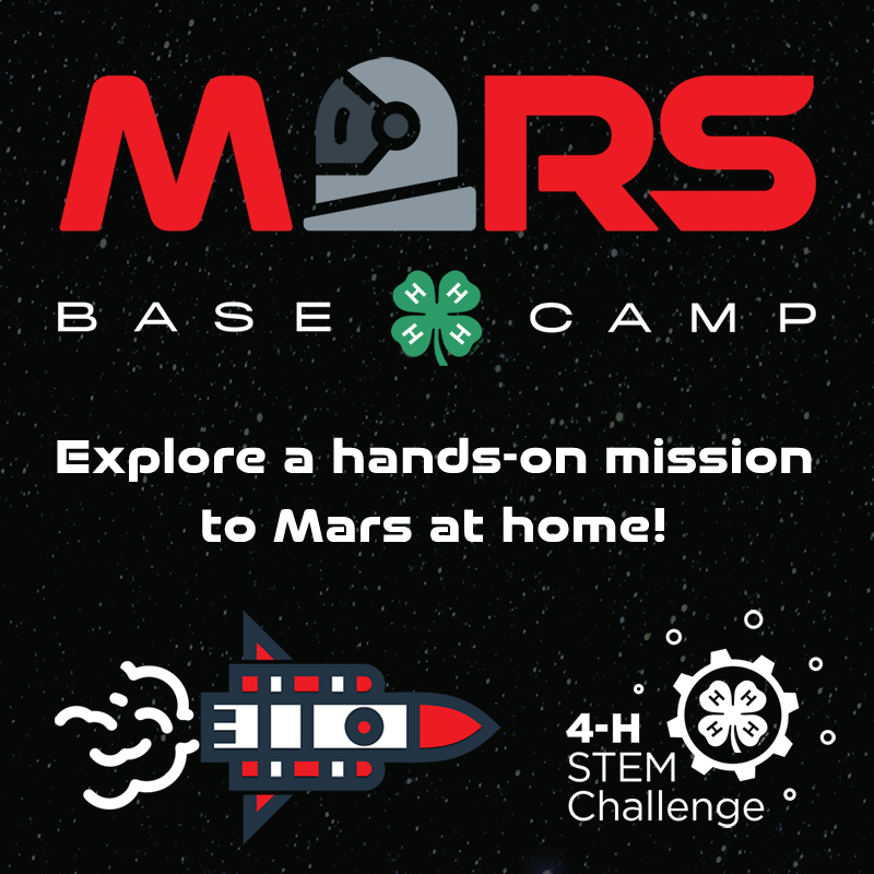 """The 2020 National 4-H STEM Challenge, """"Mars Base Camp,"""" will explore sending a mission to Mars with a variety of STEM activities."""