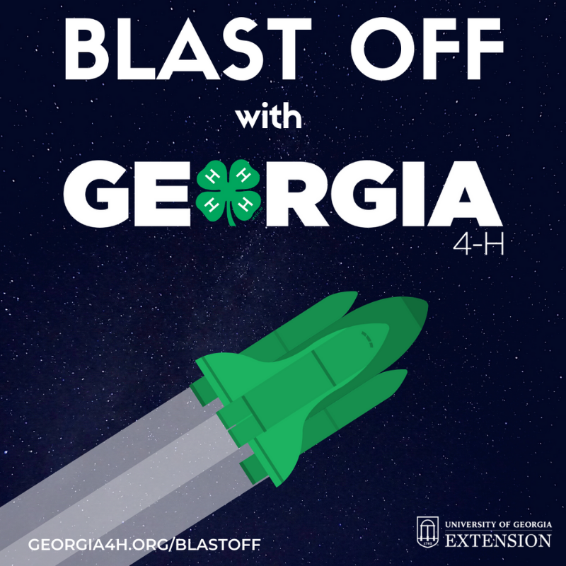 Blast Off with Georgia 4-H Graphic 1