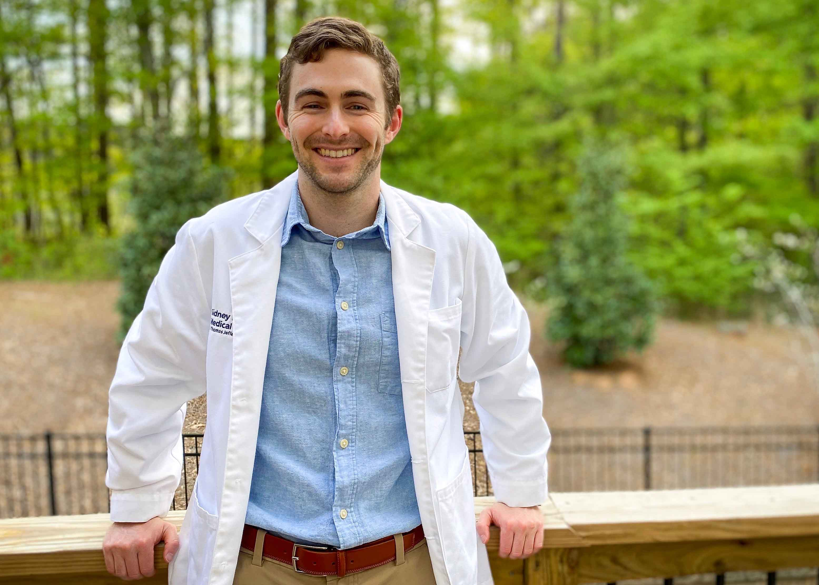 UGA alumnus and current fourth-year medical student Jake Goodman has been sharing stories about his path to medical school on social media after realizing that the challenges he's faced resonate with many students. He now has over 210,000 followers on TikTok. (contributed photo)