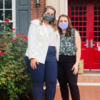 Since the Congressional Agricultural Fellowship program's inception in 1997, the College of Agricultural and Environmental Sciences has helped develop new generations of agricultural policymakers by providing them with the opportunity to gain real-world experience at the highest level. Current Congressional Agricultural Fellows Grace Dodds (left) and Julie Bacon pose in front of UGA's Delta Hall in Washington, D.C.