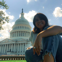 Junior agricultural communications major and 2020 Congressional Agricultural Fellow Emily Leonard is pictured on Capitol Hill.