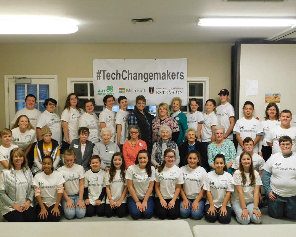 Murray County 4-H Tech Changemakers gather for a photo before an informational session in 2019.
