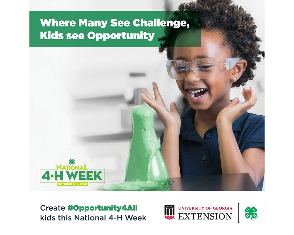 The theme for this year's National 4-H Week, Opportunity4All, is aimed toward identifying solutions to eliminate the opportunity gap that affects 55 million kids across the U.S.