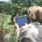 A statewide survey is currently open to the public for anyone who is not already a Georgia Master Gardener Extension Volunteer and may be interested in the program or its services. A Master Gardener, pictured here, takes photographs of insects at the UGA Research and Education Garden in Griffin. (file photo)