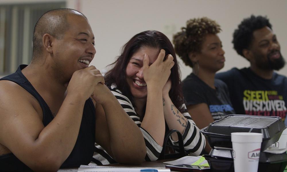 Renato Garcia and Joanna Ortiz participated in Elevate training as part of Project F.R.E.E. (Photo by Kristina Arjona)